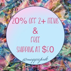 Free shipping & 20% off!
